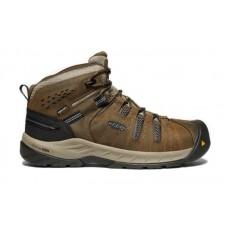 KEEN Utility 1023237 - Men's - Flint II Mid - Waterproof Steel Toe - Cascade Brown/Orion Blue