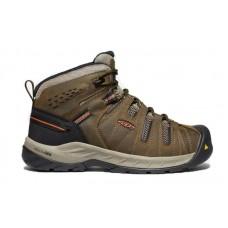 KEEN Utility 1023242 - Men's - Flint II Mid - Soft Toe - Cascade Brown/Burnt Ochre