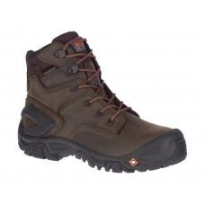 """Merrell J099525 - Men's - 7"""" Strongfield Leather Waterproof Composite Toe - Espresso"""