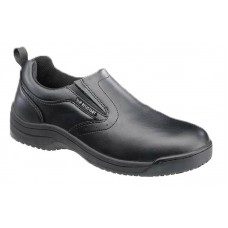 SkidBuster 5072 - Men's - Soft Toe - Slip Resistant - Water Resistant - Slip-on - Black