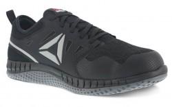 Reebok  RB251 - Women's - Steel Toe - Zprint Athletic Work Shoe - Black and Dark Grey