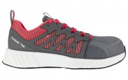 Reebok RB312 - Women's - Fusion Flexweave Work - Composite Toe - Grey and Red