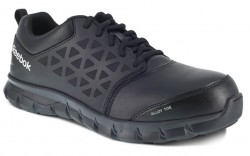 Reebok  RB4047 - Men's - Alloy Toe - Sublite Cushion Athletic Work Shoe - Black