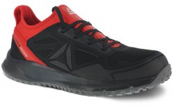 Reebok  RB4093 - Men's - Steel Toe - All Terrain Athletic Work Shoe - Black and Red