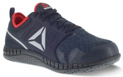 Reebok  RB4250 - Men's - Steel Toe - Zprint Athletic Work Shoe - Navy and Grey with Red Trim