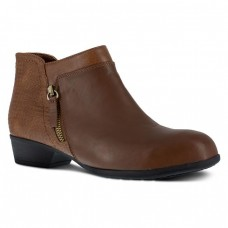 Rockport RK752 - Women's - Carly Work Bootie Alloy Toe - Brown