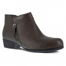 Rockport RK753 - Women's - Carly Work Bootie Alloy Toe - Charcoal