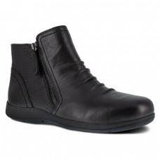 Rockport RK762 - Women's - Daisy Ruched Side Zip Bootie - Black