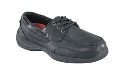 Rockport RK638 - Women's - Sailing Club 3 Eye Tie Boat Shoe - Black