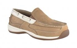 Rockport RK673 - Women's - Sailing Club Slip On Boat Shoe - Tan & Cream