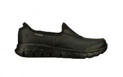 Skechers 76536bbk - Women's - Sure Track SR Slip On - Black Leather