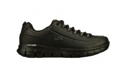 Skechers 76550blk - Women's - Sure Track Trickel SR Lace Up Athletic - Black Leather