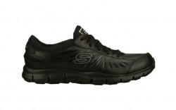 Skechers 76551blk - Women's - Eldred SR Lace Up Active - Black Leather