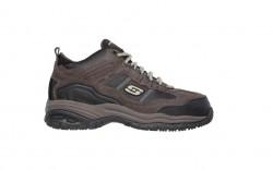 Skechers 77027 - Men's - Soft Stride Canopy Composite Toe - Brown/Black