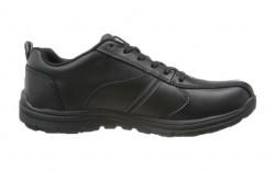 Skechers 77036blk - Men's - Hobbes Frat Lace Up Oxford SR - Black Leather