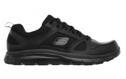 Skechers 77040blk - Men's - Flex Advantage SR Lace Up Athletic - Black Leather/Mesh