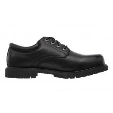 Skechers 77041blk - Men's - Cottonwood Elks SR Lace Up Oxford - Black Leather