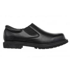 Skechers 77046blk - Men's - Cottonwood Goddard Twin Gore Slip On Oxford - Black Leather