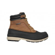 Skechers 77065brn - Men's - Robards Padded Collar Duck Boot with Rubber Shell - Brown Crazyhorse Leather