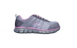 Skechers 77250gypk - Women's - Saquenay Alloy Toe - Gray/Pink