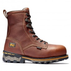 """Timberland PRO 1112A - Men's - 8"""" Boondock - EH Waterproof Composite Toe Work Boot - Brown Tumbled"""