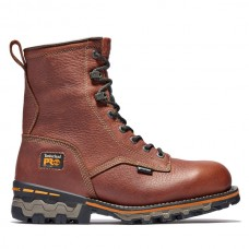 """Timberland PRO 1113A - Men's -  8"""" Boondock - EH Waterproof Soft Toe Work Boot - Tumbled Brown"""