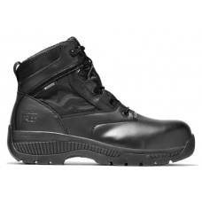 """Timberland PRO 1163A - Men's - 6"""" Valor Duty EH Waterproof Side Zip Soft Toe - Black Smooth Leather"""