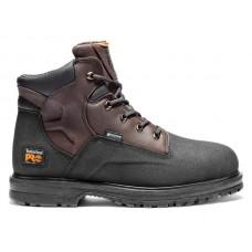 """Timberland PRO 47001 - Men's - 6"""" Powerwelt EH Waterproof Steel Toe Boot - Rancher """"Brown Oiled Full Grain"""