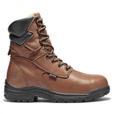 """Timberland PRO 47019 - Men's - 8"""" EH Waterproof Alloy Toe Boot - Cappuccino Full Grain Leather"""
