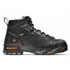 "Timberland PRO 47592 - Men's - 6"" Endurance EH Waterproof Steel Toe Boot - Black Full-Grain Leather"
