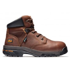 """Timberland PRO 85594 - Men's - 6"""" Helix EH Waterproof Alloy Toe Boot - Brown Full Grain Leather"""