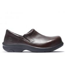Timberland PRO 85599 - Women's - Newbury ESD Slip on Alloy Toe - Brown Full Grain Leather