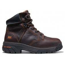 """Timberland PRO 86518 - Men's - 6"""" Helix EH  Alloy Toe Boot - Brown Full-Grain Leather"""