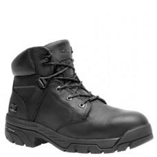 "Timberland PRO 87517 - Men's - 6"" EH Waterproof Composite Toe Boot - Black Full-Grain Leather"