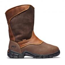 Timberland PRO 89652 - Men's - Excave EH Waterproof Wellington Steel Toe Met Guard - Brown Tumbled