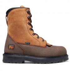 """Timberland PRO 91665 - Men's - 8"""" Lace Rigger Side Zipper EH Waterproof Steel Toe - Bandit Full-Grain"""