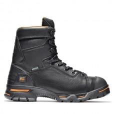 "Timberland PRO 95567 - Men's - 8"" Endurance EH Waterproof Insulated Steel Toe Boot - Black Full-Grain Leather"