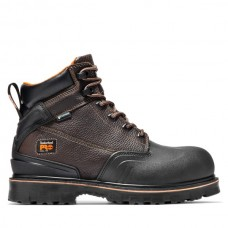 """Timberland PRO A11RO - Men's - 6"""" Rigmaster EH Waterproof  Steel Toe - Brown Tumbled Leather"""