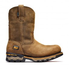 Timberland PRO 1053A - Men's - AG Boss - EH Waterproof Alloy Toe- Pull-on Work Boots- Light Brown Distressed