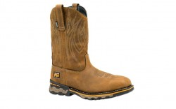 Timberland PRO 1001A - Men's - AG Boss Square Alloy Toe - Pull-On Work Boot - Light Brown Distressed