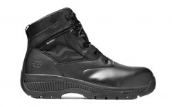 """Timberland PRO 1163A - Men's - 6"""" Valor Duty Soft Toe Side Zip - Black Smooth Leather"""