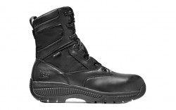 """Timberland PRO 1165A - Men's - 8"""" Valor Duty Composite Toe - Black Smooth Leather"""