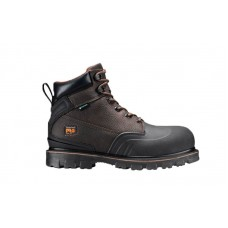 """Timberland PRO A11RO - Men's - Rigmaster - Steel Toe - Waterproof - 6"""" Work Boot - Brown Tumbled Leather"""