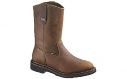 Wolverine 10084 - Men's - Brek Durashocks Waterproof Wellington Steel Toe EH Work Boot - Dark Brown