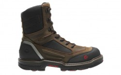 Wolverine 10487 - Men's - 8 Inch Overman CarbonMax® Composite Toe - Brown/Black